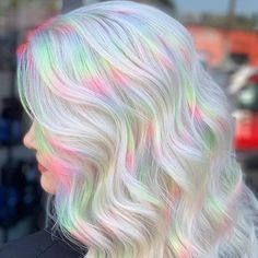 140 iridescent holographic hair coloring ideas to make your hair resemble - Cute Hair Colors, Pretty Hair Color, Beautiful Hair Color, Hair Dye Colors, Hair Color For Kids, Long Hair Colors, Pastel Hair Colors, Hair Color Ideas, Hair Colour