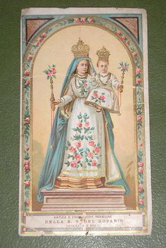 1920´S Our Lady of The Rosary Rimini Italy Image Holy Card | eBay