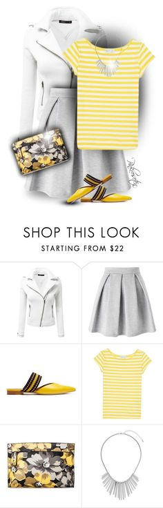 """""""Pop of Yellow for Spring!"""" by pinkroseten ❤ liked on Polyvore featuring Doublju, Miss Selfridge, Roksanda, agnès b., Who What Wear and Dorothy Perkins"""