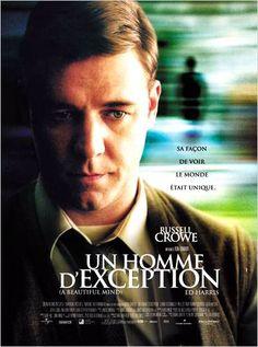Un homme d'exception [A Beautiful Mind] - Ron Howard.    L'histoire vraie d'un prix Nobel  atteint de schizophrénie. Une leçon de cœur et de courage !