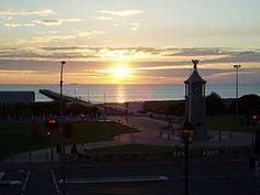 Semaphore wide sunset.
