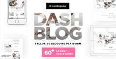 DashBlog - Exclusive & Simple Personal WordPress Blogging Theme