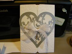 Wedding invite, #cricut, cuttlebug
