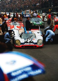 1971 Le Mans | 24 Heures du Mans | 24 Hours of Le Mans | Circuit de la Sarthe | Oldest sports car endurance race 1971 917K | Kurzheck | Short Tail | Magnesium Frame | White Car 22 with Martini Racing...