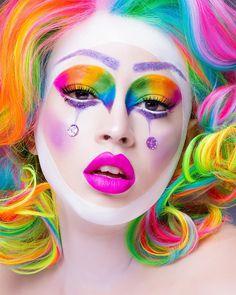 Rainbow Face and Hair