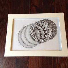 Quadro Zentangle by Lucia Haddad