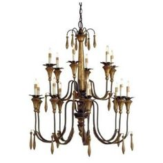 Check out the Currey and Company 9381 Parisienne 15 Light Chandelier with Rust/Gold Leaf priced at $1,990.00 at Homeclick.com.
