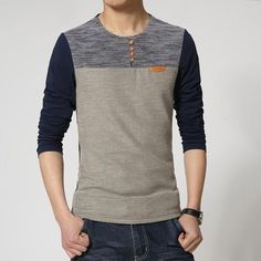 New Spring Fashion Brand O-Neck Slim Fit Long Sleeve Men Trend Casual Men T-Shirt