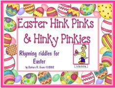 Eggs-actly what you need for spring!  Easter Hink Pinks & Hinky Pinkies will have your students cracking up!