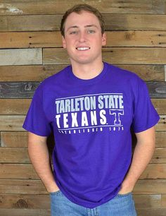 Texan Nation! This TSU tee is the perfect shirt for you! Grab one now to show your Tarleton State pride!