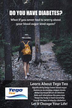 Tego Tea for Type 2 Diabetes Diabetic Drinks, Regulate Blood Sugar, Kidney Health, Diabetic Living, Lower Blood Sugar, Healthy Living Tips, Natural Cures, Fun Drinks, Helping People