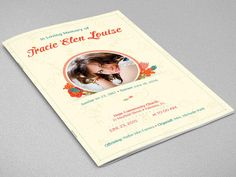 Floral Glory Funeral Program Template  INSTANT DOWNLOAD by Godserv