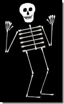 Q-tip skeleton - we did this last week and it was a huge hit!