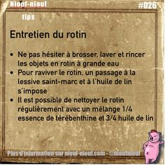 Tips Niouf-niouf : l'entretien des objets en rotin #rotin #entretien #truc…