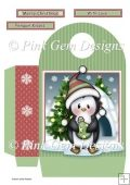 Penguin with Christmas Bauble Large Gift Bag Tri Fold Cards, Slider Cards, Pocket Cards, Folded Cards, Stepper Cards, Wine Bottle Tags, Bead Embroidery Patterns, Large Gift Bags, Shaped Cards