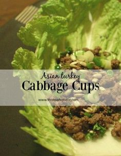 Asian Turkey Cabbage Cups-The perfect weeknight meal! These Asian turkey cabbage cups are delicious, super fast, and healthy! Real Food Recipes, Cooking Recipes, Healthy Recipes, Healthy Habits, Healthy Snacks, Healthy Dinners, Eating Healthy, Lunch Recipes, Drink Recipes