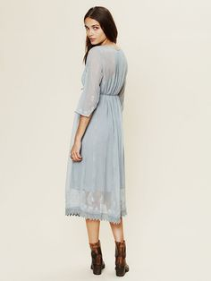 Free People Gauzy Georgette Dress at Free People Clothing Boutique
