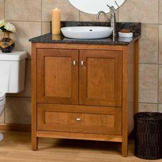 """30"""" Alcott Vanity for Semi-Recessed Sink - Bathroom"""