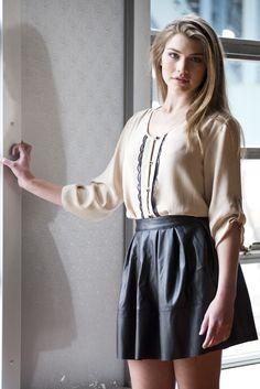 leather skirt   ellelauri