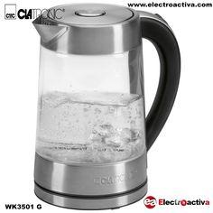 ¡¡Calienta agua para preparar deliciosas bebidas calientes como té o café instantáneo!! Hervidor de Agua CLATRONIC WK 3501G http://www.electroactiva.com/clatronic-hervidor-agua-wk-3501-g.html #Elmejorprecio #Hervidor #Electrodomestico #PymesUnidas