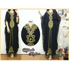 Kaftans  Material Chiffon  Embroidery Combine