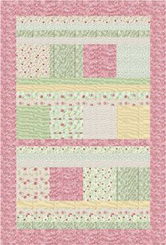 FREE pattern! ~ Victorian Elegance Quick and Easy Throw Quilt - Farm Fresh Fabrics I like the pattern, would change the colors..laurie