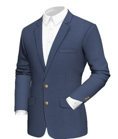 Navy Blue Blazer - Made from 100% wool, with two button fastening, lined with Brown fabric and with brass buttons  http://www.tailor4less.com/en/collections/custom-jackets/mens-flair-for-tailor4less/navy-blue-blazer