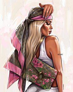 Diva Fashion, Fashion Art, Lovely Girl Image, Fashion Sketchbook, Digital Art Girl, Fashion Painting, Fashion Design Sketches, Anime Art Girl, Face Art