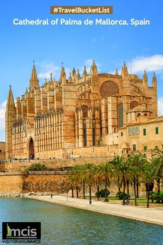 Its delicately intricate high pointed spires and Gothic aura makes this a must visit destination when in Spain. #TravelBucketList #Spain