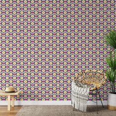 Geo Egg Peel & Stick Wallpaper - Canvas Wall Decal / 1 roll: 24W x 120H
