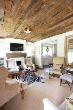 Den On Pinterest Pottery Barn Beams And Traditional Living Rooms