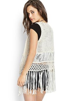 Boho Doll Crocheted Cardigan | FOREVER21 This would be so cute with a black maxi