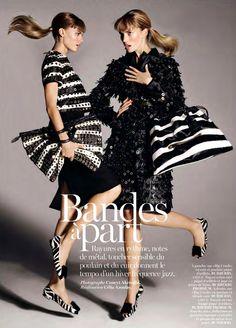 Maryna Linchuk & Cato van Ee by Cuneyt Akeroglu for Vogue Paris November