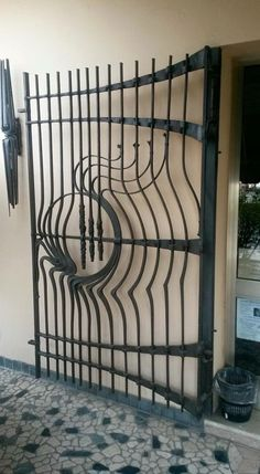 Beautifully crafted iron gate by György Seregi