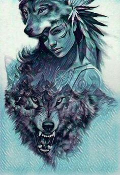 Super tattoo wolf girl moon wolves 26 ideas Super tattoo wolf girl moon wolves 26 ideasYou can find Wolves art and more on our website. Wolf Girl Tattoos, Tattoo Wolf, Fantasy Wolf, Fantasy Art, Fantasy Creatures, Mythical Creatures, Orca Tattoo, Bd Art, Wolf Wallpaper