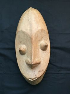 Solid Wood Face Wall Decor - Natural Color With Pointy Eyes and Willow Tree Figurines, Nature Decor, I Love Dogs, Wood Crafts, Hand Carved, Solid Wood, Masks, Wall Decor, Sculpture