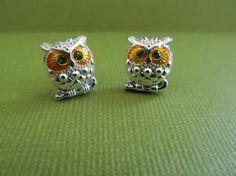 Owl stud earrings.