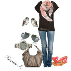"""simple casual"" by bonnaroosky on Polyvore"