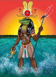 Esta es una caricatura del dios hapy el dios del río Nilo
