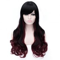 Side Long Multicolor Synthetic Wigs | TwinkleDeals.com Page 2
