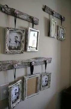 Weathered photo frames