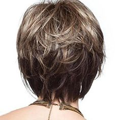 Buy Women Popular Brown & Blonde Mix Short Straight Cosplay Party Full Hair Wigs at Wish - Shopping Made Fun Blonde Pixie, Short Blonde, Curly Short, Blonde Wig, Wig Styles, Curly Hair Styles, Wig Hairstyles, Straight Hairstyles, Short Hair Wigs