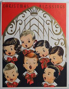 50s Church Choir-Vintage Christmas Card