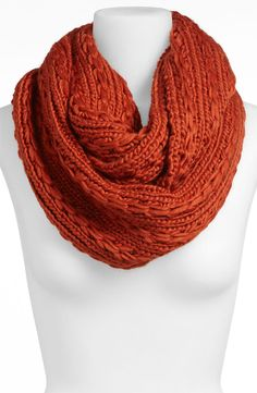 These cable-knit infinity scarves would have been... - Tall Girl Tales