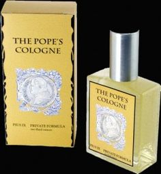 Pope's Cologne.  Want to smell like the Pope?  The Pope's Cologne is a classic Old World cologne made from the private formula of Pope Pius IX (1792-1878). Exclesis obtained this formula from descendants of the commander of his Papal Guard and lifelong friend, General Charles Charette. We have followed this complex, exclusive formula meticulously, using the same essential oils that his perfumers used 150 years ago.