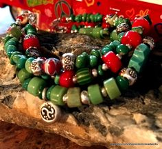 Gem Stone Bracelet/Bohemian Turquoise by EclecticBeadWorks on Etsy