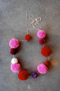 Valentines day pom Pom garlands.