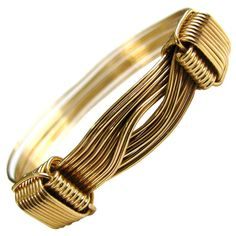 Gucci Gold Elephant Hair Bangle Bracelet at 1stdibs