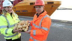 "La ""autopista marítima"" Bilbao-Tilbury se inaugura…¿transportando patatas?"