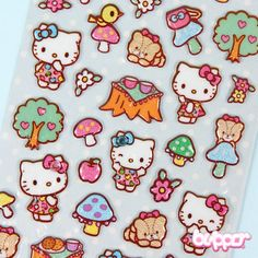 Hello Kitty Puffy Stickers - Picnic